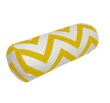 le05g Yellow on Beige Zig Zag Cotton Canvas Yoga Case Bolster Cushion Cover Size