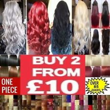 24'' 3/4 Full Head Clip in Hair Extensions One Piece 5 Clip Synthetic best price