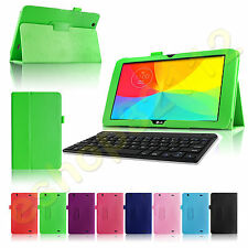 Folio PU Leather Case Smart Fit Cover For LG G Pad 10.1 V700 Tablet + Keyboard