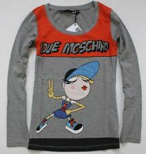"19535 Love Lady's cute girl with ""V"" gesture Moschino Top/T-shirt Sz S/M/L/XL"