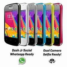Blu Dash Jr D141S Social 2G Android Dual Sim Unlocked GSM Phone Colors New