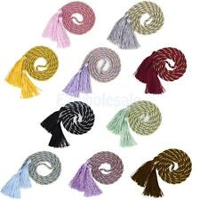 Set of 2 Rope Cord Tassel Rope Curtain Tiebacks Living Room Bedroom 10 Colors