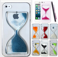 NEW 3D Dynamic Quicksand Time Hourglass Hard Cover Phone Case For iPhone Samsung