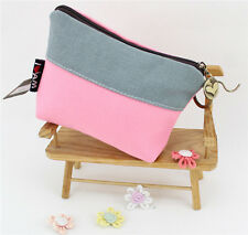 New Womens Girl Canvas Case Coin Bag Card Credit Key Purse Wallet Makeup Pouch n