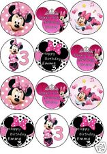 minnie mouse cake toppers pink or red personalised any 4th set free