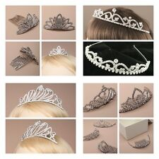 Tiara Crystal Tiara with comb band or both Silver Tone Boxed all sizes & styles