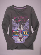 NEW GAP CAT GRAPHIC LONG SLEEVED TOP SIZE XS 4/5