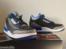 ** Nike Air Jordan Retro III 3 SPORT BLUE Black Cement True MEN & GS Sz: 4y-13**