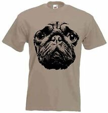 PUG DOG MEN'S T-SHIRT - Choice of 9 colours - Sizes small to 3XL