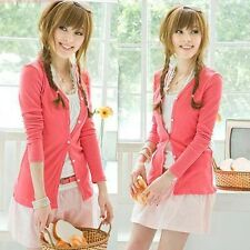 Womens Casual Long Sleeve Knitwear Jumper Cardigan Long Coat Jacket Sweater