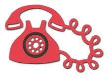 10 Die cut Telephone sizzix call phone vintage card making assorted 11.5x8cm