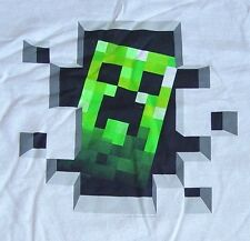 Minecraft Creeper Inside Silver Youth Long Sleeve New T-Shirt Tee