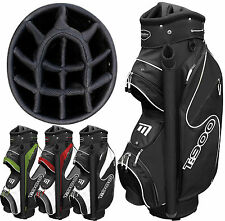 """""""NEW 2014 MODEL"""" MASTERS T900 14 WAY 9"""" DELUXE GOLF CART TROLLEY BAG ALL COLOURS"""