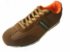 MEN'S  ONE TRUE SAXON BROWN/NAVY LACE UP TRAINERS  VOLARE