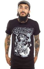 Sourpuss Kustom Kreeps Greasy Black Tee Rockabilly Punk Rock
