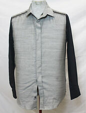 PHILLIP LIM FOR TARGET REVERSE CHAMBRAY BUTTON DOWN SHIRT GRAY/BLACK (10-P)