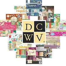 DCWV 12x12 Papers SAMPLE TASTER PACKS  Die Cuts with A View Scrapbook Cardstock