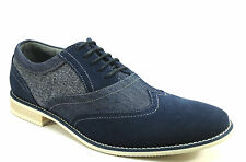 Steve Madden Men's Sirius Oxford Shoe - Navy Suede