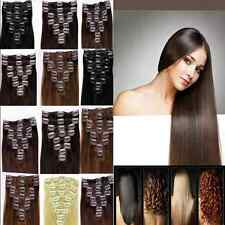 """Full Head Thick 20""""22""""24""""26""""28""""30""""Long Clip In Remy Human Hair Extensions In USA"""