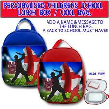 PERSONALISED ENGLAND CRICKET CHILDRENS SCHOOL LUNCH BOX NURSERY COOL BAG ST311