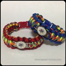 OES / Order of the Eastern Star Bracelet   Paracord with Charms