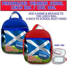 PERSONALISED SCOTLAND RUGBY CHILDRENS SCHOOL LUNCH BOX NURSERY COOL BAG ST406