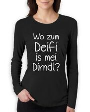 Where Is My Drindle? Women Long Sleeve T-Shirt Oktoberfest Funny Sexy Tracht