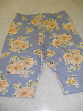 Girls Blue Floral Cycling Shorts - BARGAIN £1.25!!  Perfect for the Summer!  new