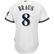 Majestic Athletic Milwaukee Brewers Ryan Braun Authentic Home Cool Base Jersey