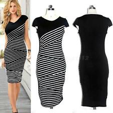 New Fashion Womens Elegant Slim Sexy Dress Evening Party Dress Plus Size SWTG
