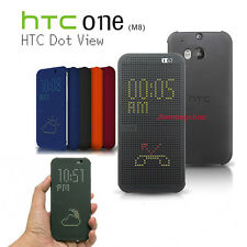 New Fashion Dot View Case Smart Flip Folio Cover For New HTC One M8 HC M100