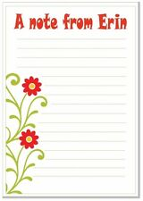 na Personalised NOTELETS lined writing paper pk 16 & envelopes, notes, A6 BORDER