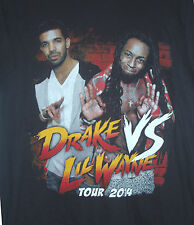DRAKE vs LIL WAYNE 2014 TOUR T-SHIRTS w/ cities listed on backside (S, M, L, XL)
