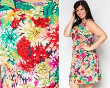 LADIES PLUS SIZE 14- 16 XL TUNIC TEA DRESS FLOWER BOHO SKATER TUNIC BLOUSE TOP