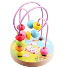 Funny Baby Kids Boy's Girl's Wooden Toys Colorful Round Beads Wire Toys New