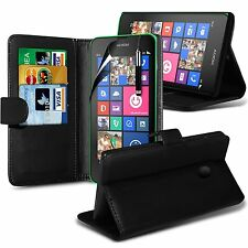 NOKIA LUMIA 635 - Genuine Leather Wallet Case Cover For Lumia 635 +Screen Guard