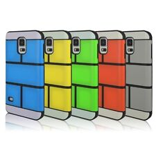 Cheap New Hard Plastic Grid Back Case Cover For Samsung Galaxy S5 SV i9600