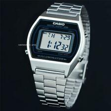 CASIO, B640WD-1AV, RETRO VINTAGE LOOK MEN'S DIGITAL, SILVER TONE, FREE SHIP