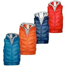 Mens Crosshatch Padded Double Layered Hooded Gilet Winter Body warmer Jacket