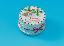 Dolls House Miniature 1/12th Scale Christmas Cake Round or Square