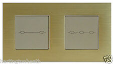 I LumoS Amber Edition Aluminium 2, 3, 4, 5, 6 Gang 1/2 Way Touch Light Switches