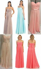 6 COLOR PAGEANT BRIDESMAIDS COCKTAIL DRESS HOMECOMING EVENING FORMAL GOWN 4-26