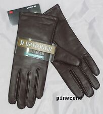 Isotoner Gloves Leather Thinsulate solid colored woman's size 7, 8 NEW