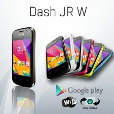 Blu Dash Jr D141W D140W 2G Android Dual Sim Unlocked GSM Cell Phone Colors NEW