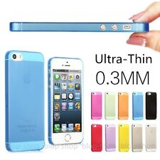 APPLE iPHONE 5 5S ULTRA SLIM 0,3 mm COVER HARD CASE 10 FARBEN SCHUTZ Hülle dünn