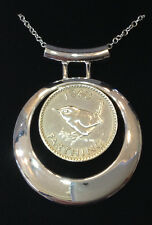 1997 17th Birthday pendant / necklace Made of coins from the year you were born