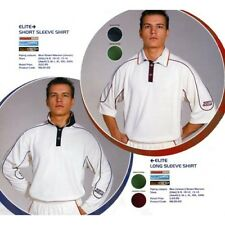 NORTH GEAR Cricket White SHIRT in ELITE style for Adults in sizes S to XXXL
