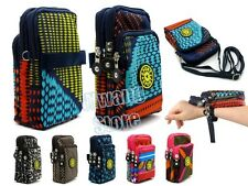 Nylon Zipper Arm Elastic Band Pouch Multi-function Shoulder Bag Case For Phone