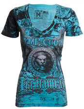 Xtreme Couture AFFLICTION Women T-Shirt GRECO LION Randy Biker Sinful S-XL $32 b