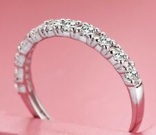 Size 5-9 Handmade Bling Jewelry Ladys 925 Silver White Sapphire Ring Gift-Lover